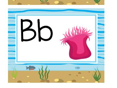 Ocean Themed Word Wall Alphabet