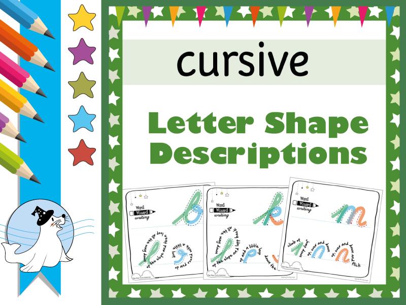 Cursive Letter Descriptions