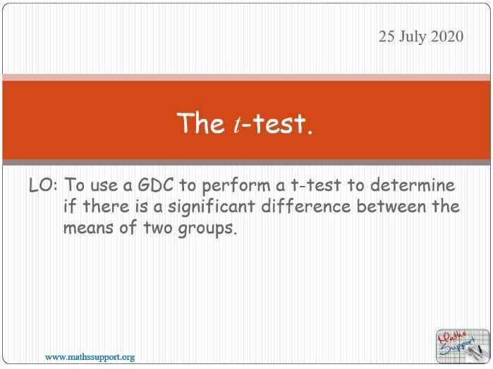The t-test
