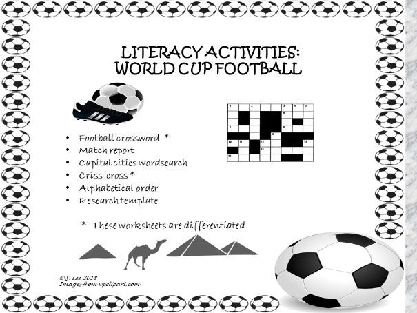 Literacy resources:  World Cup Football 2018