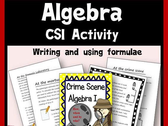 CSI Algebra - Writing & Using Formulae