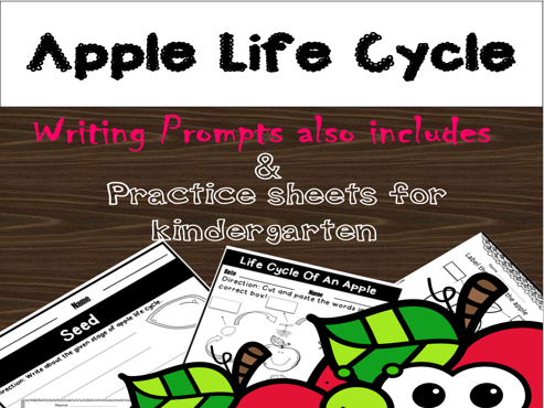 Apples Activities: Life Cycle, Apple Tasting, Writing prompts and More