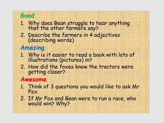 Fantastic Mr Fox Novel Study/Guided Reading