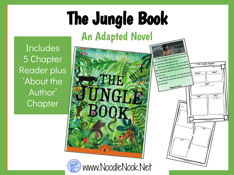 The Jungle Book- An Adapted Novel for Special Education and Autism