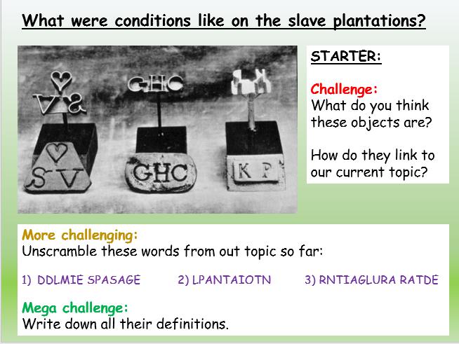 Slavery: Plantations