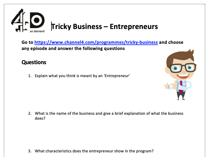 Tricky Business - Questions
