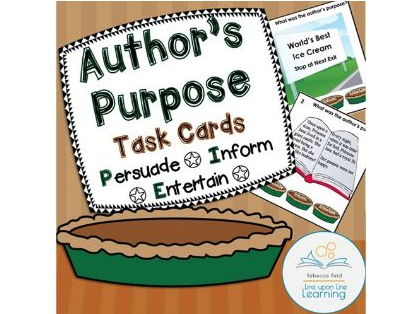 Author's Purpose Task Cards: Persuade, Inform, or Entertain