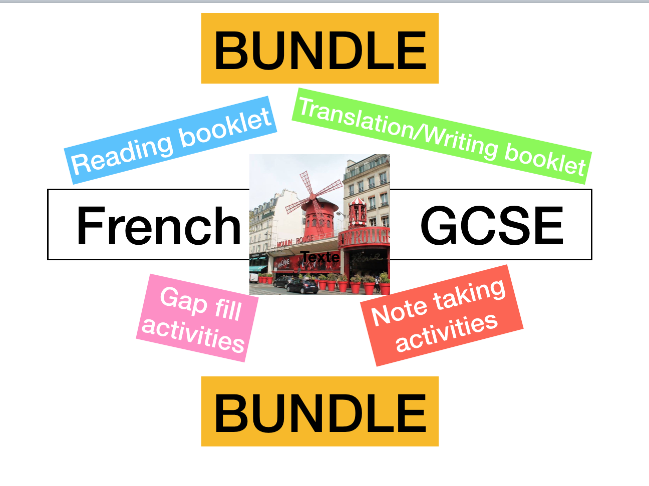 French - iGCSE reading - writing  skills  (exam style questions)