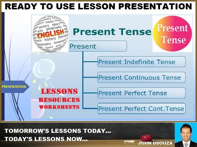 PRESENT TENSE: READY TO USE LESSON PRESENTATION