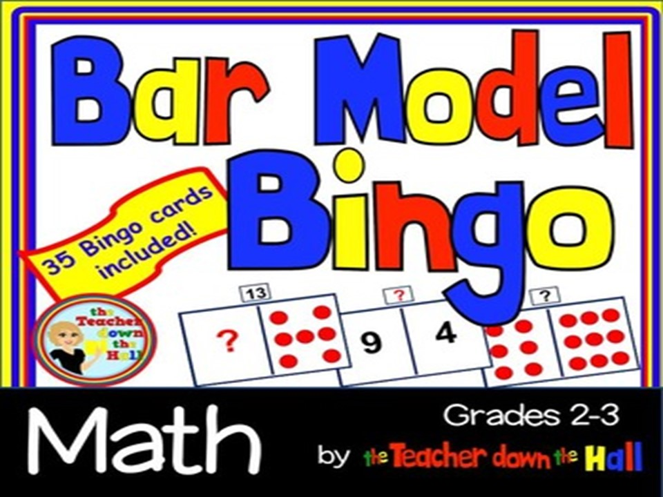 Bar Model Bingo - w/ 35 Bingo Cards  Grades 2-3