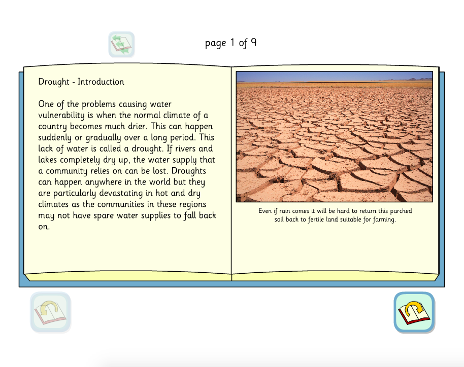 Drought Interactive Information Book - KS2 Literacy