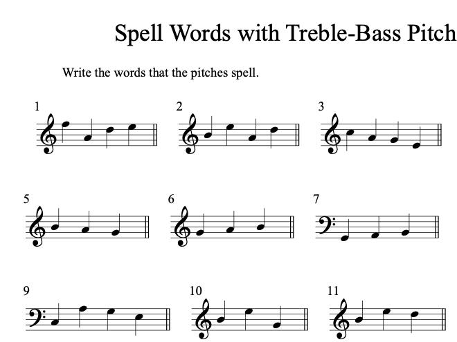 Music Theory: Pitch Drills Worksheet Bundle (14) with Answer Sheets