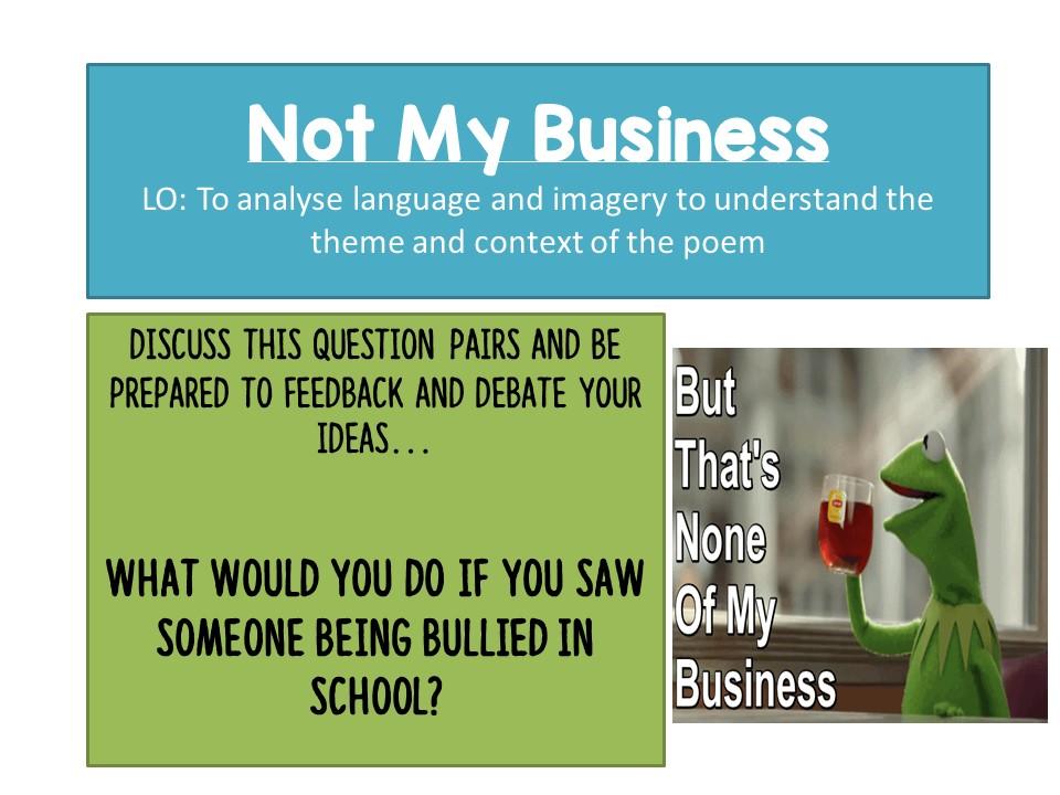 Not My Business - Niyi Osundare