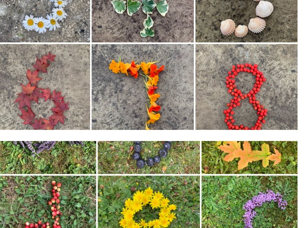 Natural resources numbers (0-20) & a-z letters