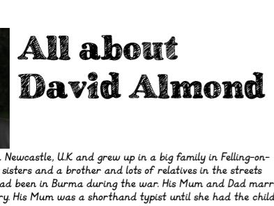 David Almond Author Study Pack