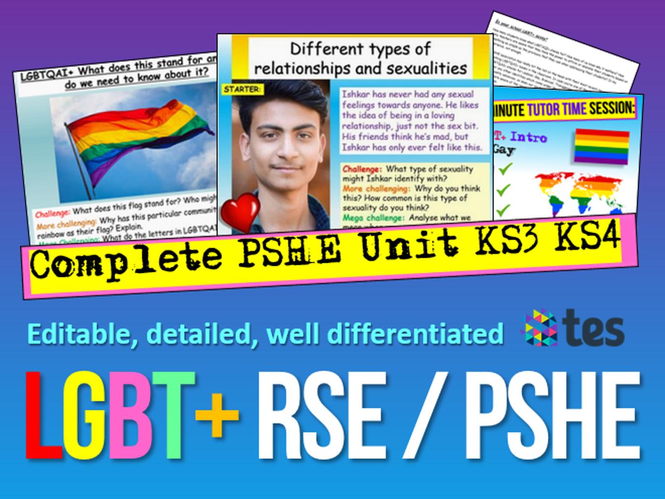 LGBTQ + PSHE 2020 Unit