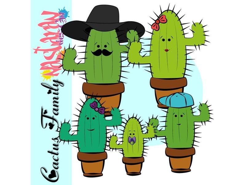 Cactus Family Clip art