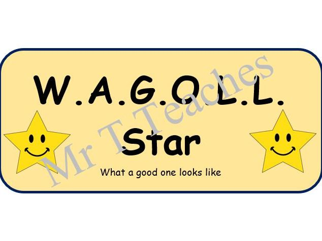 WAGOLL (What A Good One Looks Like) Poster