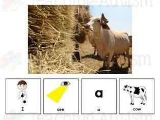 Farm Animal Sentence Building Adapted Books