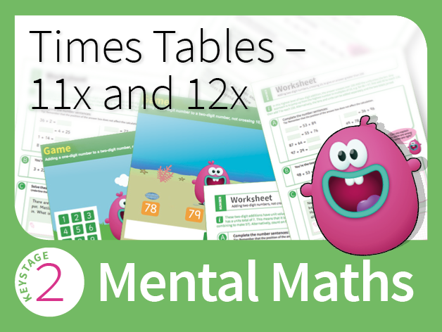 Times Tables Mastery - Extending tables to 11 and 12 times