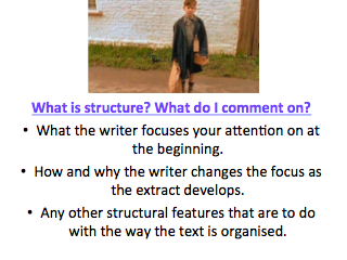 Goodnight Mister Tom - Language Paper 1 Question 3 Structure