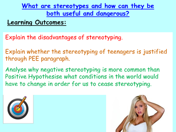 stereotypes and prejudice worksheet