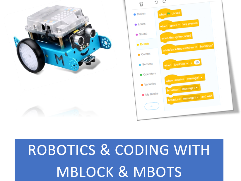 Introduction to coding and robotics using mBlock and mBots