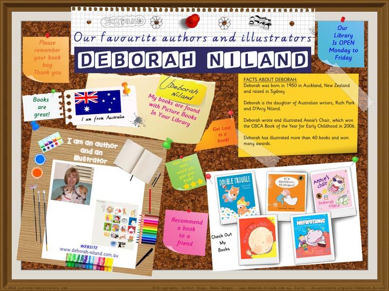 Library Poster - Deborah Niland Australian Children's Author Illustrator