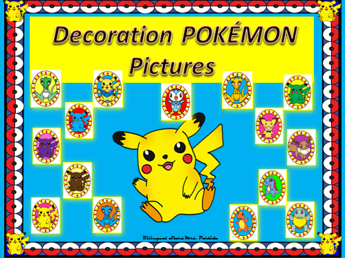 Pokemon Decoration POKÉMON Pictures Bilingual Stars Mrs. Partida