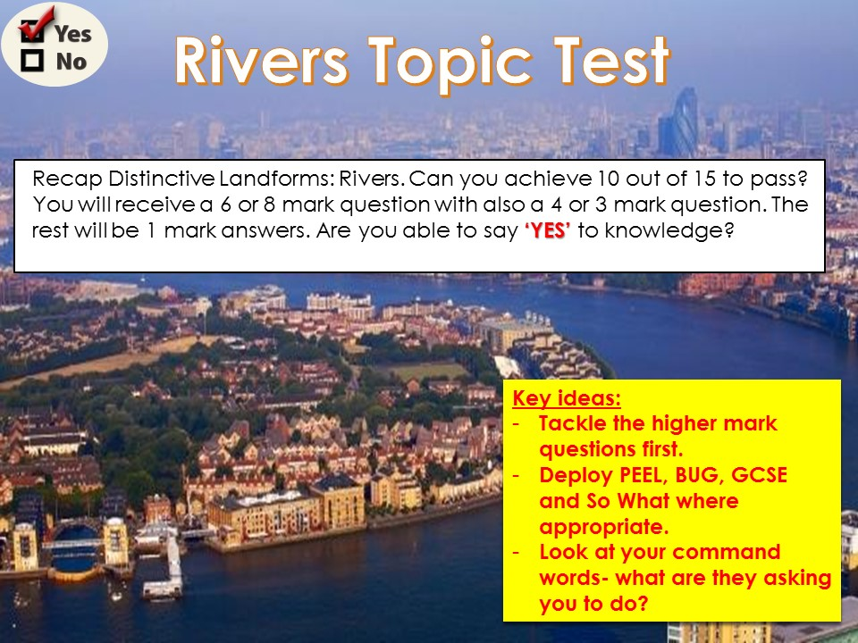 OCR B Topic Tests 11) River Topic Test WITH ANSWERS