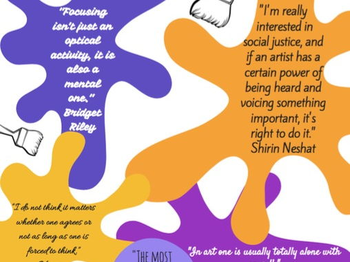 International Women's Day artists quotes poster / display
