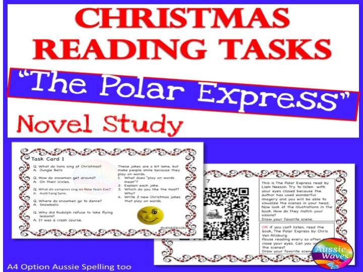 CHRISTMAS READING Activities Literacy Centre Polar Express Tasks SET 1