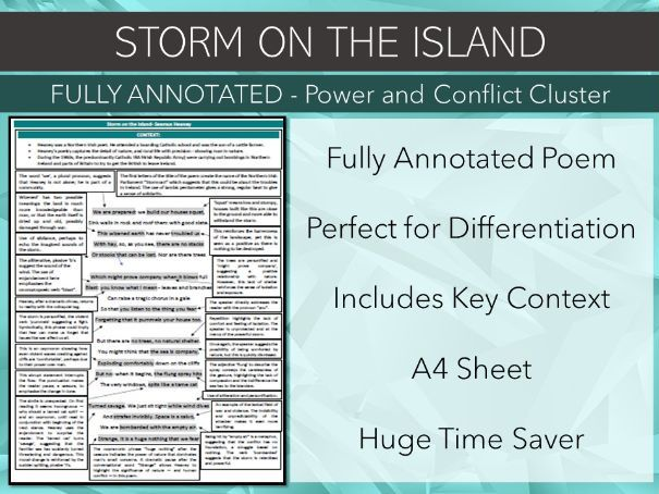 Storm on the Island Annotated