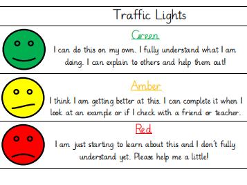 Traffic Light Assessment For Learning (AFL)