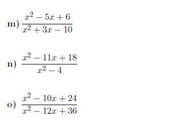 9 Worksheets on algebraic fractions (with solutions)