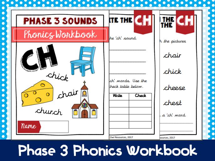 'Ch' Phonics workbook
