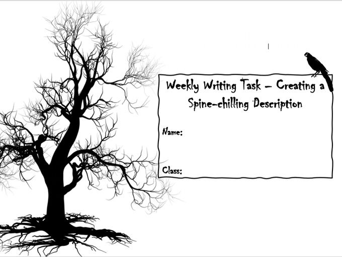 Descriptive Writing - Spooky Writing [Remote Learning Booklet]