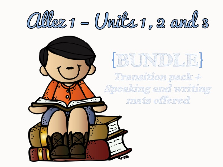 Allez 1 - Units 1, 2, 3 + Transition pack and speaking and writing mats
