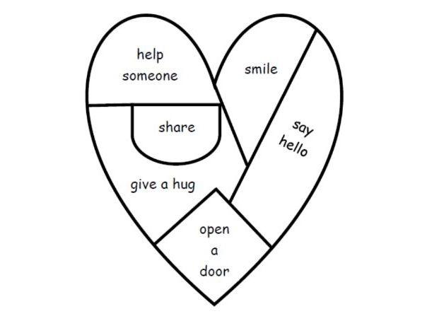 Random acts of kindness heart jigsaw