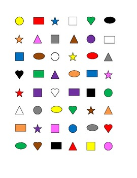Colors and Shapes Connect the dots Squares game