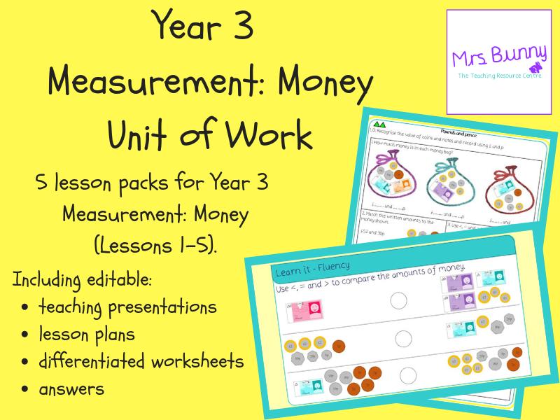 Year 3 Measurement: Money Unit Pack