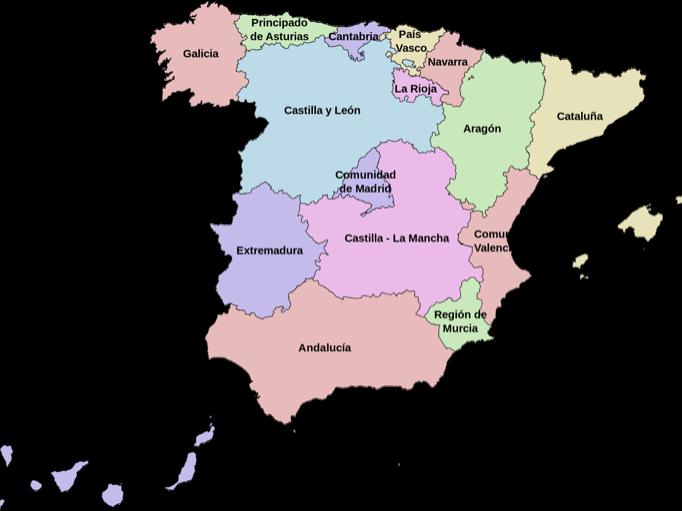 España, comunidades y provincias