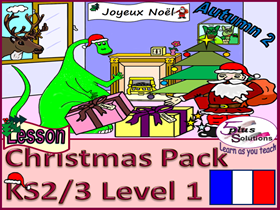 CHRISTMAS PRIMARY FRENCH LESSON PACK (KS2/3): Jingle Bells with music; Christmas Activity workbook
