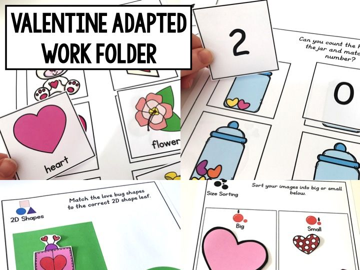 Valentine's Adapted Work Folder