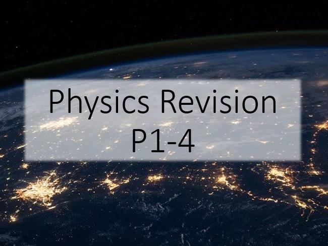 GCSE Science P1-4 Revision Bundle