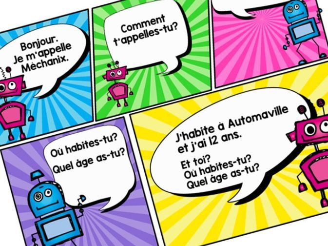 French Comic Strip Greetings Dialogue