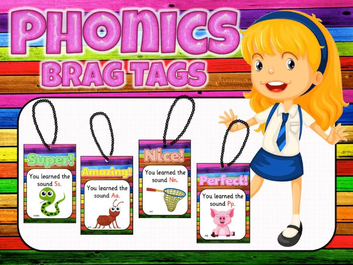 Jolly Phonics Brag Tags