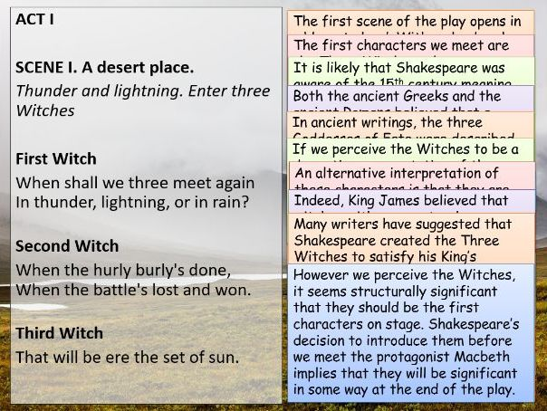 Macbeth: Annotated Act One