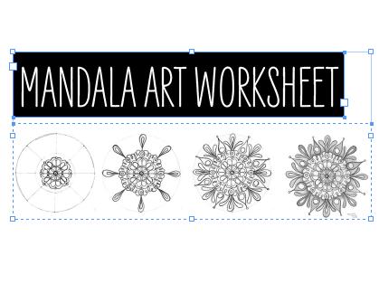 *ART COVER* Mandala template/worksheet