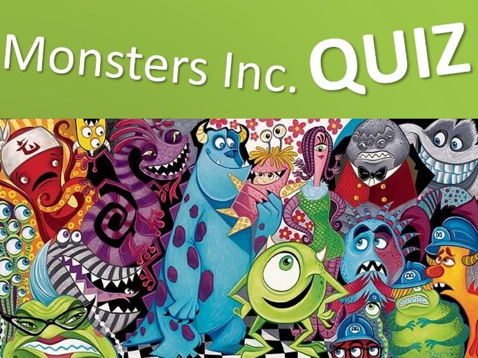 Monsters Inc. Multiple Choice Quiz Game - Grades 2-3 - PowerPoint
